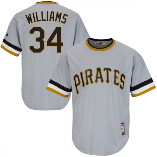 Men's Majestic Trevor Williams Pittsburgh Pirates Player Authentic Gray Cool Base Road Cooperstown Collection Jersey