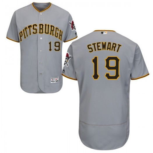 Youth Majestic Chris Stewart Pittsburgh Pirates Player Replica Gray Road Flex Base Collection Jersey