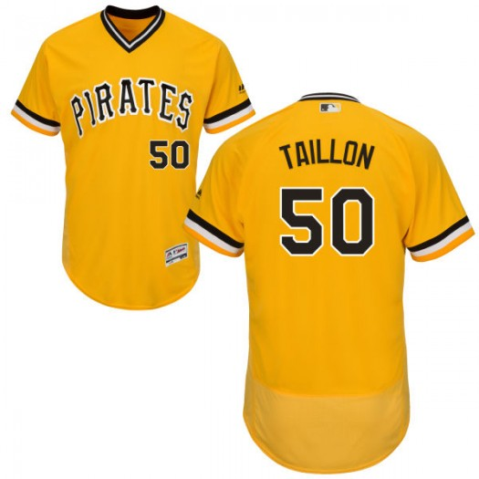 Youth Majestic Jameson Taillon Pittsburgh Pirates Player Replica Gold Alternate Flex Base Collection Jersey