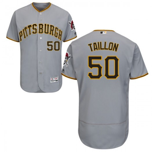 Men's Majestic Jameson Taillon Pittsburgh Pirates Player Authentic Gray Road Flex Base Collection Jersey
