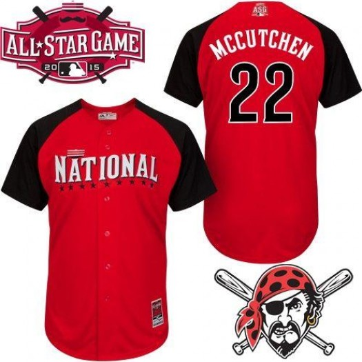 Men's Majestic Andrew McCutchen Pittsburgh Pirates Player Authentic Red 2015 All-Star National League BP Jersey